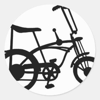 CLASSIC 60'S BIKE BICYLE SCHWINN STINGRAY BIKE CLASSIC ROUND STICKER