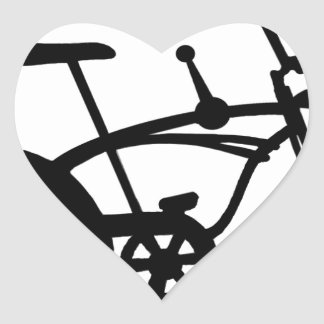 CLASSIC 60'S BIKE BICYLE SCHWINN STINGRAY BIKE HEART STICKER
