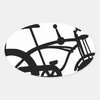 CLASSIC 60'S BIKE BICYLE SCHWINN STINGRAY BIKE OVAL STICKER