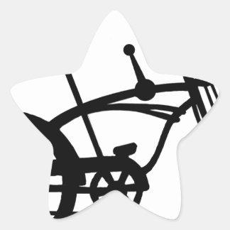 CLASSIC 60'S BIKE BICYLE SCHWINN STINGRAY BIKE STAR STICKER