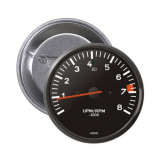 Classic 911 rev counter (old air-cooled car) 2 inch round button