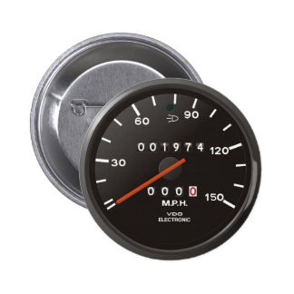Classic 911 speedometer (old air-cooled car) 2 inch round button