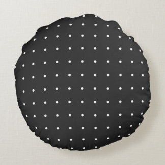 Classic-Accent_Polka-Dots(c)BW_Round Round Pillow