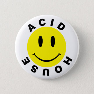 Classic Acid House Smiley 2 Inch Round Button