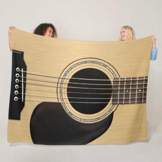 Classic Acoustic Guitar Fleece Blanket