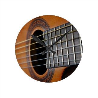 Classic Acoustic Guitar Round Clock
