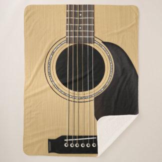 Classic Acoustic Guitar Sherpa Blanket
