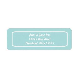 Classic Address Avery Label (Tiffany) Return Address Label