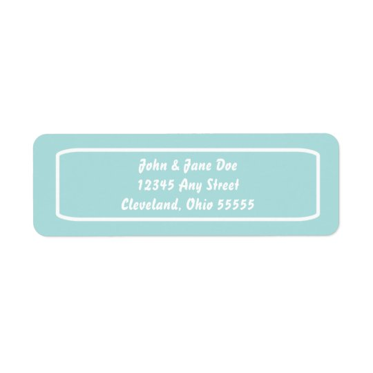 Classic Address Avery Label (Tiffany) Return Address Label