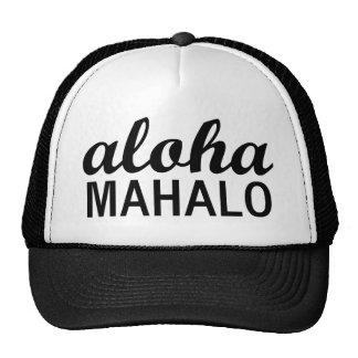 Classic Aloha Mahalo Typography Trucker Hat