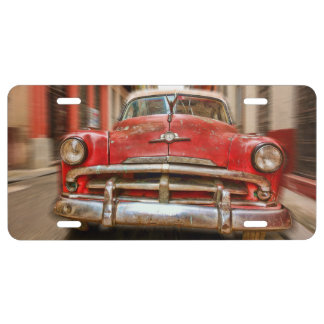 Classic American Car in Havana, Cuba license plate