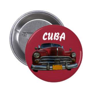 Classic American car in Vinales, Cuba 2 Inch Round Button