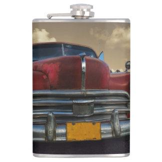 Classic American car in Vinales, Cuba Flask