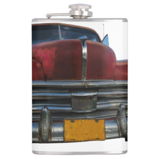 Classic American car in Vinales, Cuba Flasks