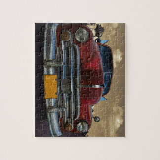 Classic American car in Vinales, Cuba Jigsaw Puzzle