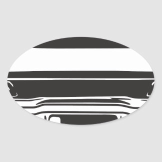 Classic American Charger Oval Sticker