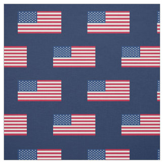 Classic American Flag Navy Fabric
