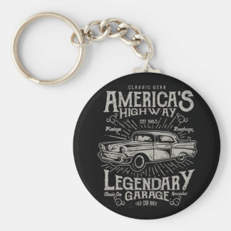 Classic American Muscle Car | Hotrod's Highway Keychain