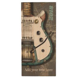 Classic Americana Electric Guitar Wood USB Flash Drive