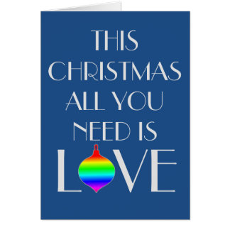 Classic and Elegant Gay Oriented Christmas Card