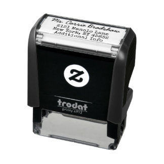 Classic and Simple Writer Return Address Self-inking Stamp
