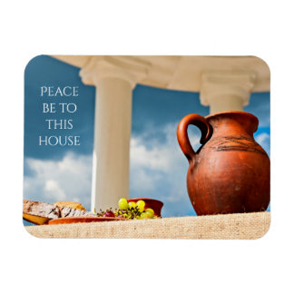 Classic antique still-life with a pitcher rectangular photo magnet