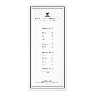 Classic Apothecary Holistic Medicine White Rack Card
