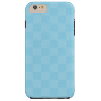 Classic Aqua -Checkers- Custom Tough iPhone 6 Plus Case