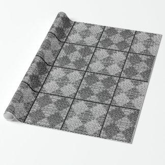 Classic Argyle Block Vintage Print Wrapping Paper