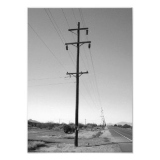 Classic Arizona Powerlines Photograph