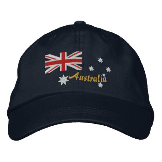 Classic Australian Flag Embroidery Embroidered Hat