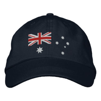 Classic Australian Flag Embroidery Embroidered Hats