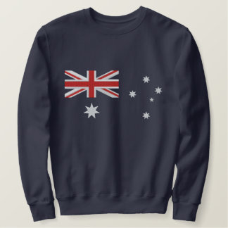 Classic Australian Flag Embroidery Embroidered Sweatshirt