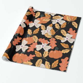 Classic autumn leaves wrapping paper