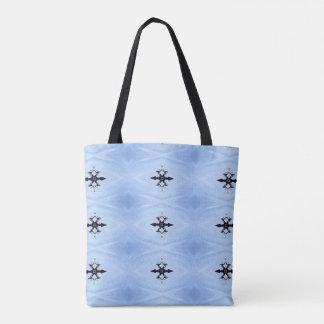 Classic Baby Blue Black Arrow Pattern Tote Bag