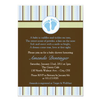 Classic Baby Feet Baby Shower Invitation
