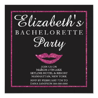 Classic Bachelorette Party Invitation w/ Glitter