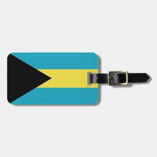 Classic Bahamian Flag Luggage Tag