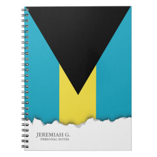 Classic Bahamian Flag Spiral Notebook