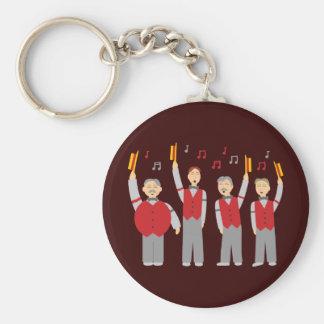 Classic Barbershop Quartet Keychain