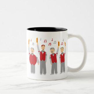 Classic Barbershop Quartet Two-Tone Coffee Mug