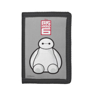 Classic Baymax Sitting Graphic Tri-fold Wallet