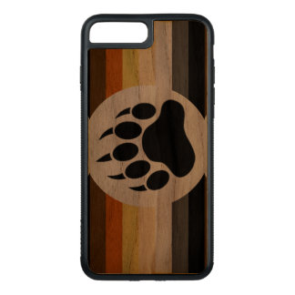Classic Bear Pride Flag and Bear Paw Carved iPhone 8 Plus/7 Plus Case