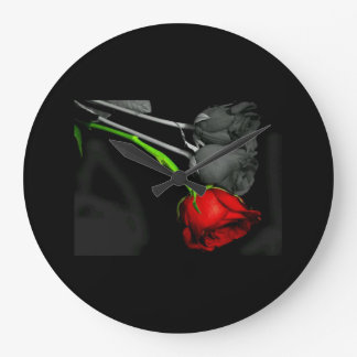 classic beautiful rose clock