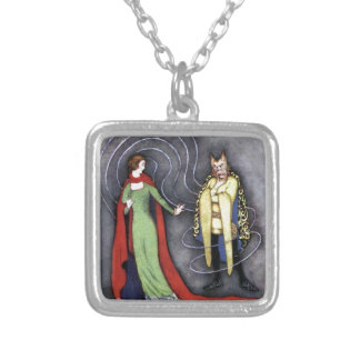 Classic Beauty and the Beast Silver Plated Necklace