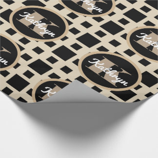 Classic Beige & Black Multi Occasion Wrapping Paper