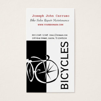 Classic Bike Modern Design Black White Artistic Business Card