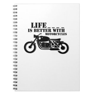 Classic Biker  Life is Better with Motorcycle Notebook