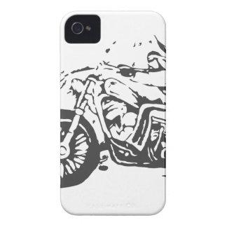Classic Biker On Chopper iPhone 4 Case-Mate Cases