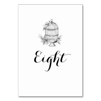 Classic Birdcage Table Names / Numbers Table Card